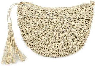 Handgefertigte Damen-Umhängetaschen 2020 Stilvolle Gras-Schultertaschen Handtasche