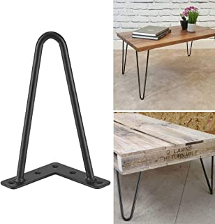 Greensen Hairpin Table Legs Set of 4, Black Metal Heavy Duty Mid-Century Modern Desk Legs For Dining Coffee Table Sofa Side End Tables Night Stand Chairs Home Accessories DIY Furniture (8 inch)