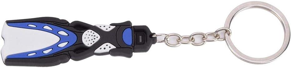 Aantrekkelijke sleutelhanger van hoge kwaliteit, korte flippervorm, voor dagelijks gebruik. Organiseert sleutels(blue)