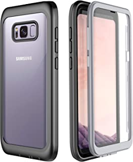 Samsung Galaxy S8 Plus Case, Singdo Built-in Screen Protector Cover 360 Degree Protection Heavy Duty Clear Bumper Case for Samsung Galaxy S8+ Plus (6.2 inch)