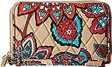 Vera Bradley Signature Cotton Grab & Go Wristlet with RFID Protection, Desert Floral