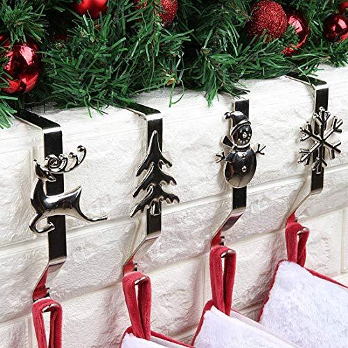 Molinter Gancio per Camino Calza di Babbo Natale, Supporto Stivali di Babbo Natale, Gancio 4 Pezzi/Set