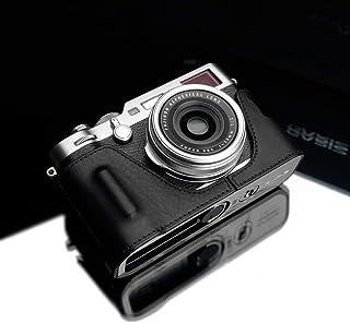 GARIZ HG-X100FBK 本革ハーフケース 富士フイルム X100F用 ブラック
