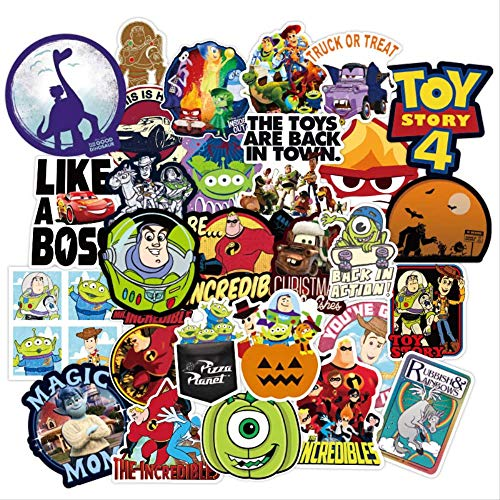 WOKAO Disney Toy Story Stickers Waterproof Skateboard Guitar Laptop Luggage Helmet Car Cool Cartoon Pixar Sticker Kids Toys 100Pcs