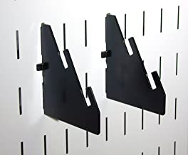 product image for Wall Control Pegboard Slotted Metal Pegboard Bracket Pair Accessory Pack for Wall Control Pegboard and Slotted Tool Board – Black