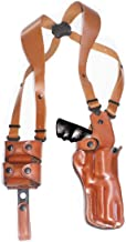 Premium Leather Vertical Shoulder Holster System with Double Speed Loader, Smith Wesson Model 500 Magnum X-Frame 8 3/8