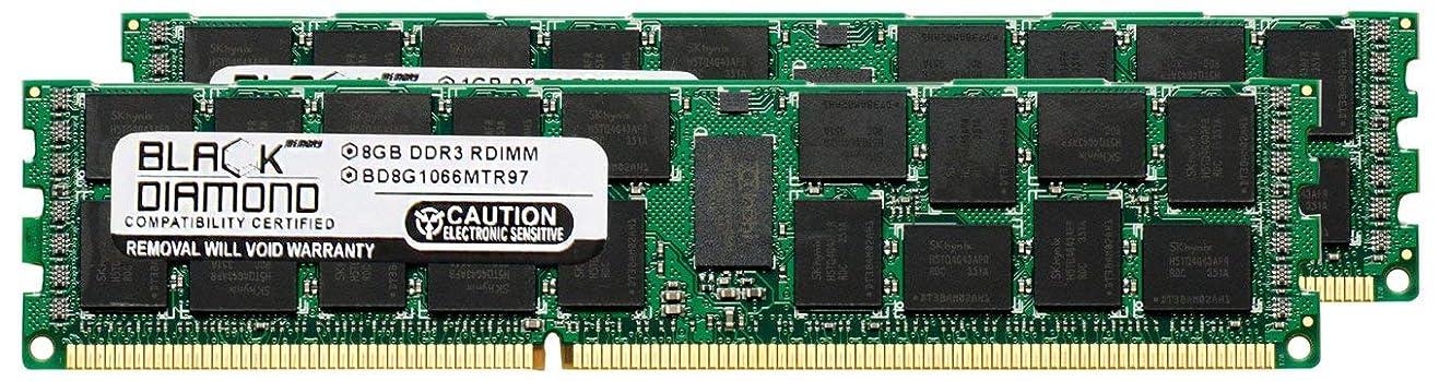 のスコア最大ロープ16GB 2X8GB Memory RAM for IBM BladeCenter Series PS702 (VLP) Black Diamond Memory Module 240pin PC3-8500 1066MHz DDR3 ECC Registered RDIMM Upgrade