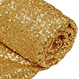 12 Feet 4 Yards Sequin Fabric, by The Yard, Sequin Fabric, Tablecloth, Linen, Sequin Tablecloth, Table Runner (Gold)