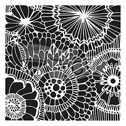 Crafters Workshop-Stencil in plastica decorazione a margherita 15 cm x 15 cm