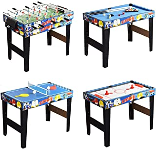 QYBK Deluxe Top Multi-Function Game Table -Table Tennis,Glide Hockey,Foosball,Pool,Basketball Set