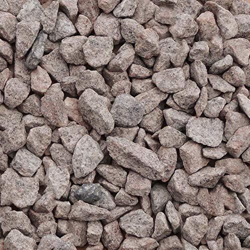 25 kg Granitsplitt rötlich 16-22 mm Körnung Zierkies Gartenkies Teichkies Zen Garten Deko Wegkies Wegsteine Gartenweg