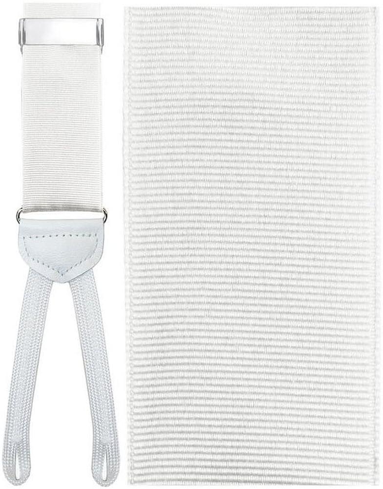 White Trapani Suspenders
