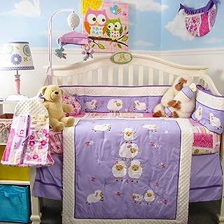 SoHo Baby Crib Bedding 10Pc Set, Wolly Lavender