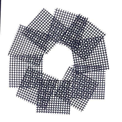 OUNONA 50Pcs Plastikblumen Topf Maschen Auflage verhindern Boden Verlust undurchl?ssige Auflage Rostschutz Breathable Netz