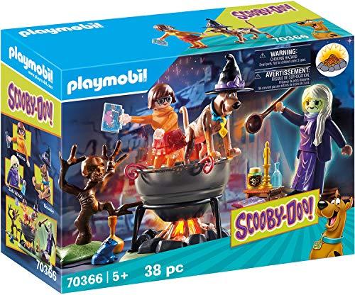PLAYMOBIL Scooby-DOO! 70366 Aventura en el Caldero de la Bruja, con Efectos de Luz, A Partir de 5 Años