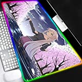 Gaming Mouse Pads Large Led Keyboard Pad Kawaii Girl Anime Cherry Blossoms Mouse Pad Computer Keyboard Pad Mat Large Gaming Mouse Mat XXL