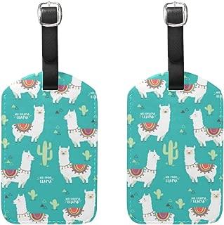 llama bag tag