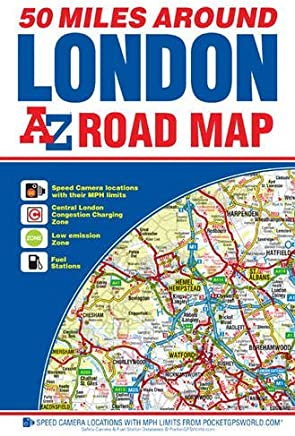 50 Miles Around London Road Map by Harry Hill (2015-12-24)