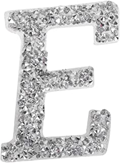 1PC A-Z Bling Rhinestone Letter Patches Glitter Alphabet Applique DIY Craft Patch Clothes Decoration Accessories(E)