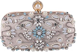 Honana Party bags for Women Women's Clutches Crystal Evening Bag Clutch Purse Bags Special Occasion Evening Handbags Women's Fashion