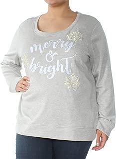 Women's Embellished Merry & Bright Sweatshirt