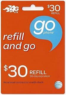 30 Dollar ATT Go Phone Refill Card
