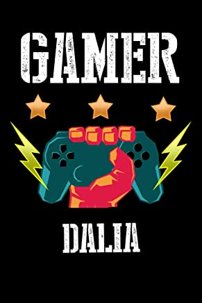 Gamer Dalia: Kariertes Notizbuch mit 5x5 Karomuster für deinen personalisierten Vornamen