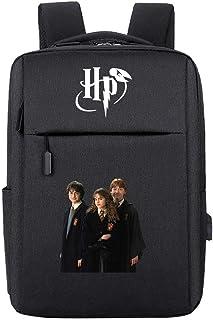 Mochila Friends, Hermione y Ronald ayudan a Harry, Mochila de la Serie Potter, Mochila Escolar portátil Hogwarts HP.2304 Negra