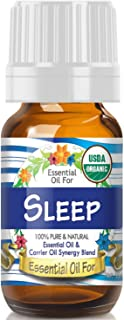 Essential Oil for Sleep (USDA Organic - 100% Pure) Unique Blend of Essential Oils Recomended by Aromatherapists for Aromatherapy - 10ml