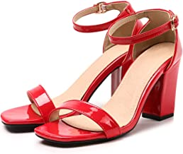 Summer Concise Solid Ankle Strap Sandals High Heels Footwear Party Wedding Shoes