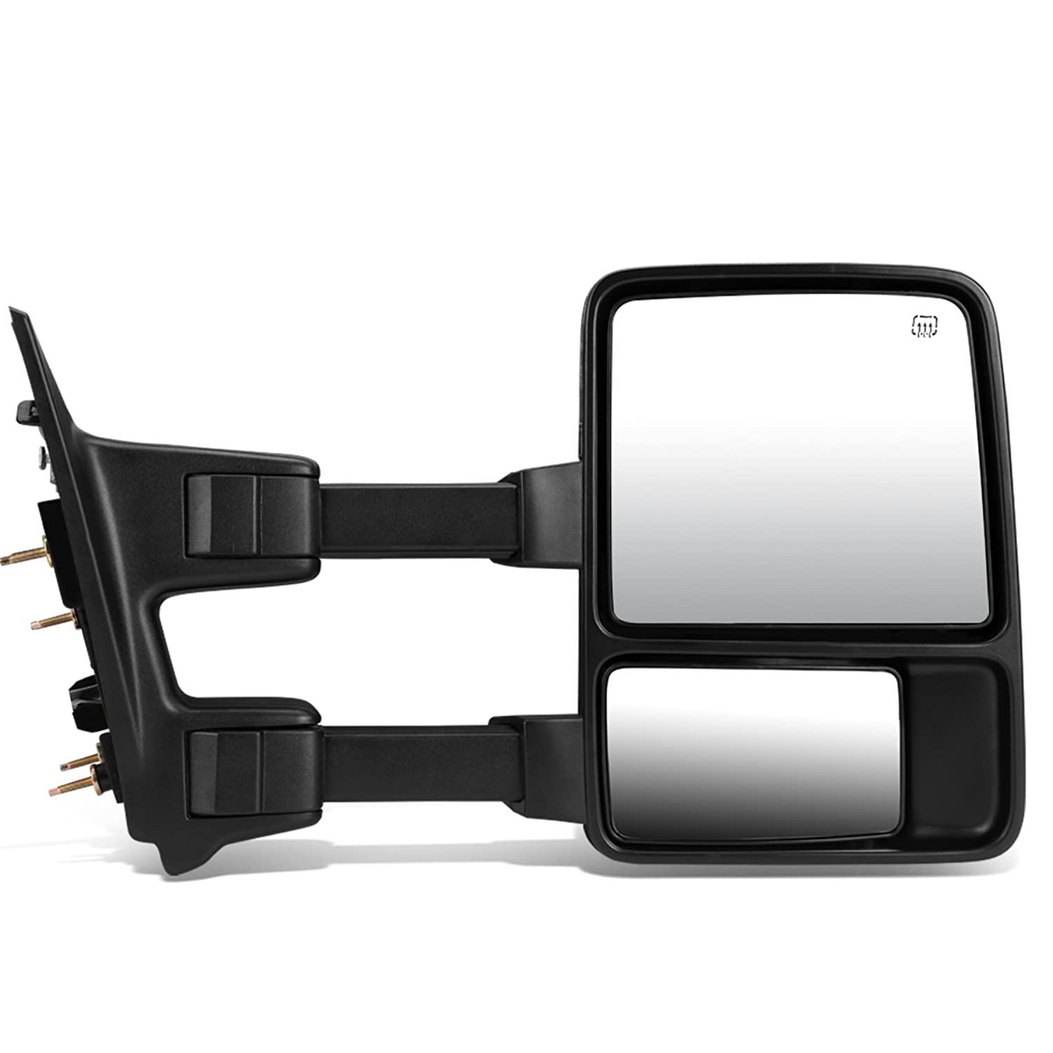 DNA MOTORING TWM-027-T888-BK-AM-R Powered Towing Mirror Heat LED Signal Right (08-16 Ford Super Duty)