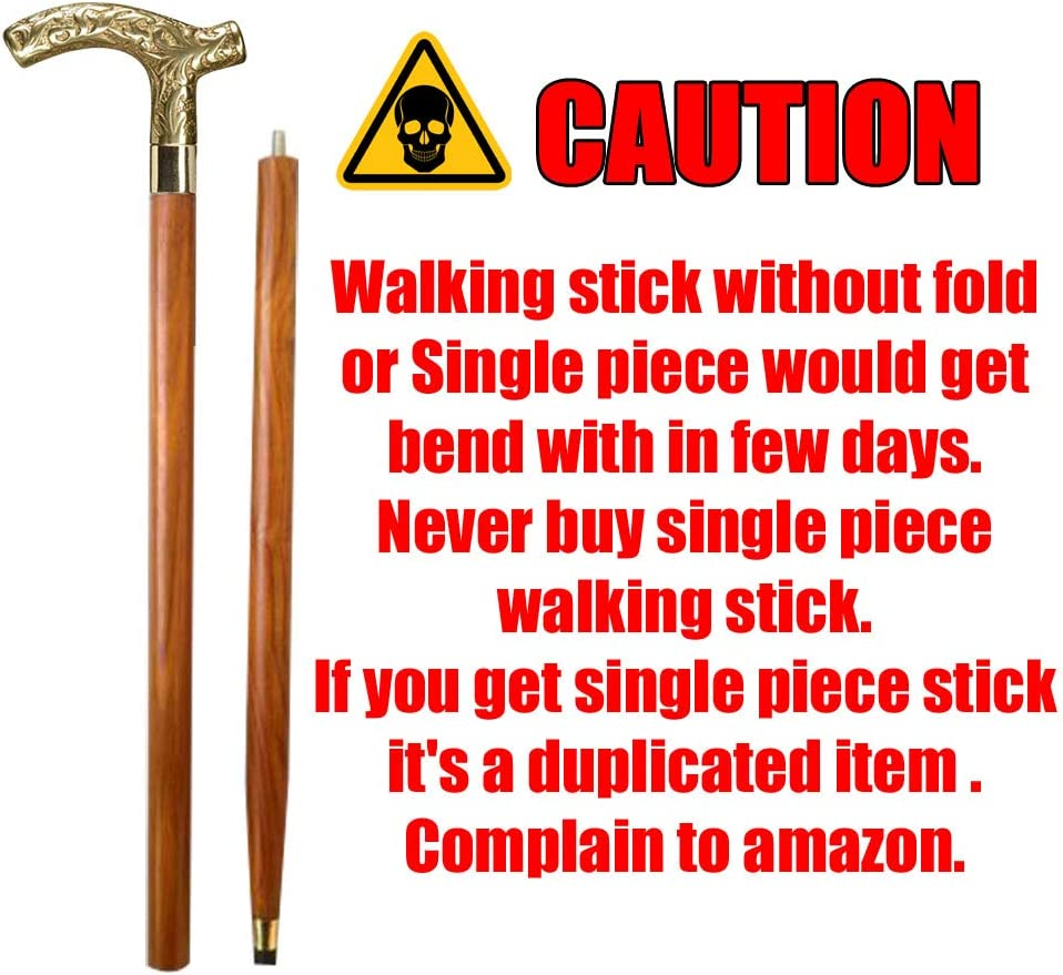 AnNafi Men Wholesale Derby Cane Walnut Maple Two Max 65% OFF 2 P Folding Stick Walking