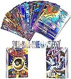 HOZO - 100 Piezas Cartas para pokemo,Tarjetas para Pokemon,Trading Cards para Pokemon,Cartas Game Battle Card para Pokemon(59EX+20GX+20MEGA+1ENERGY)