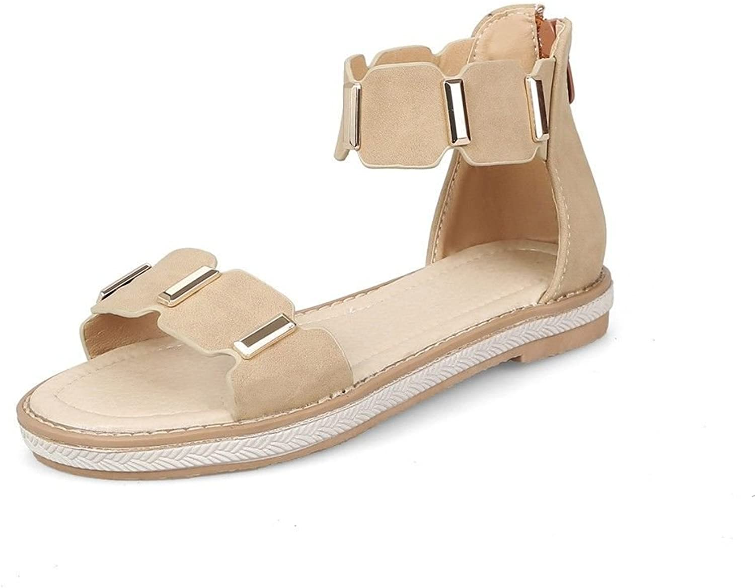 High Summer Help Round Head Package with a Flat Base Student Ladies Sandals