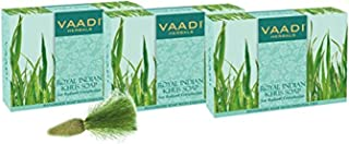 Vaadi Herbals Royal Indian Khus Soap with Olive and Soyabean Oil, 3 x 75g