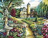 Kit de pintura por números, Amiiba Heidelberg Garden de 40,6 x 50,8 cm, pintura acrílica por número, arte de pared (jardín, sin marco)