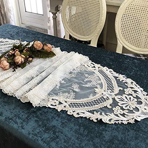 Runner Orgulloso Rose Luxury Lay Table Corredor Romántico Mesa Bandera Bordado Cubierta Toalla Té Tela TV Cabineta Toalla Fatto A Mano (Color, Size : 43x300cm)