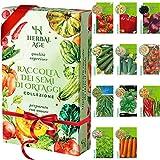 Kit per Coltivare i Semi - 11 Varietà di Semi di Ortaggi, 3500 Semi Pronti per la Coltivazione - pomodoro, peperone dolce, lattuga, zucchine, cetrioli, pomodorini, carote, piselli, spinaci,