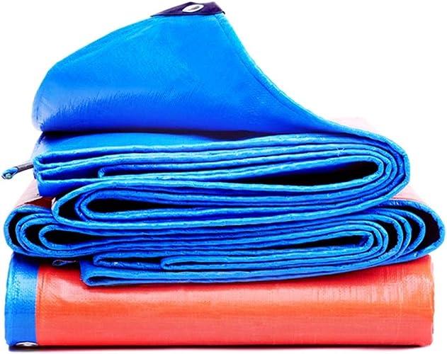 Bache grande bache extérieure légère en plusieurs tailles pour toit, camping, extérieur et terrasse, épaisseur 0,35 mm, 175g   m2 (bleue) (taille   8×12m)