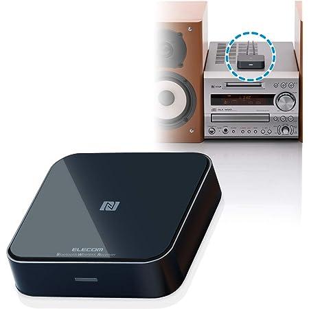 エレコム Bluetoothオーディオレシーバー ステレオミニ接続 RCA変換ケーブル付 ブラック LBT-AVWAR501XBK