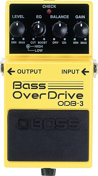 BOSS Guitar Chorus Effects Pedal, yellow (ODB-3)