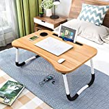 Generic Foldable Laptop Bed Table Lap Desk Stand, Serving Tray Dining Table with Slot, Notebook Stand Holder, Bed Tray Laptop Desk for Eating Breakfast, Working, Watching Movie