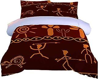 AOUAURO Housse de Couette 220x240 Chasse en Afrique 3D Parure de lit avec Fermeture à Glissière et 2 Taies d'oreiller pour...