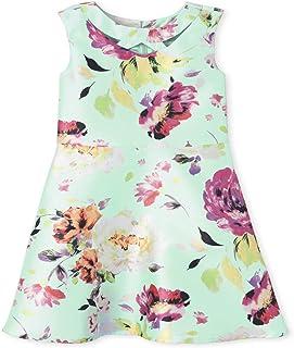 فستان للفتيات بدون أكمام مطبوع عليه أزهار من ذا كيدز بليس