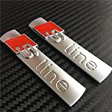 S Line chrom Legierung Abzeichen Emblem Aufkleber für A1A4A5A6A8matt silber X 2