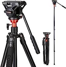 Fluid Head Tripod, COMAN Video Camera Tripod Monopod...