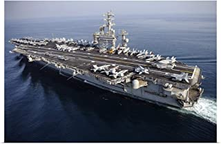 GREATBIGCANVAS Poster Print The Aircraft Carrier USS Nimitz is underway in The Arabian Gulf by Stocktrek Images 48
