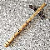 shakuhachi in d - flauto giapponese in bambù di alta qualità, sacchetto e istruzioni incluse (lingua italiana non garantita)