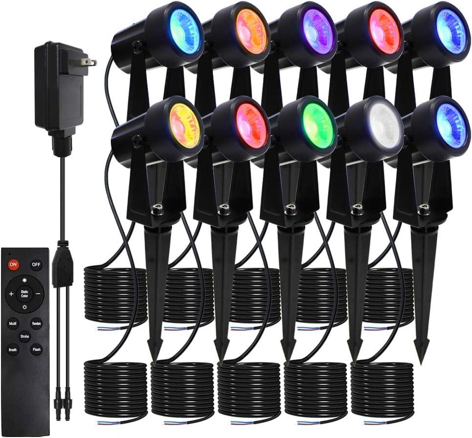 FMART LED Landscape Lights Changing Max 75% OFF 3Wx10 Color Outlet sale feature La