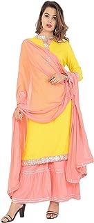 Sunrise Paridhan Women's Rayon Straight Kurti With Sharara And Dupatta Set for women & Girl's.01